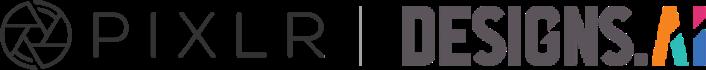 pixlr and designs.ai logo