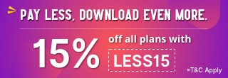 15% Off all plans with LESS15