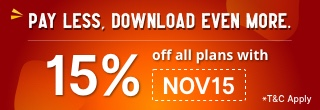 15% Off all plans with NOV15
